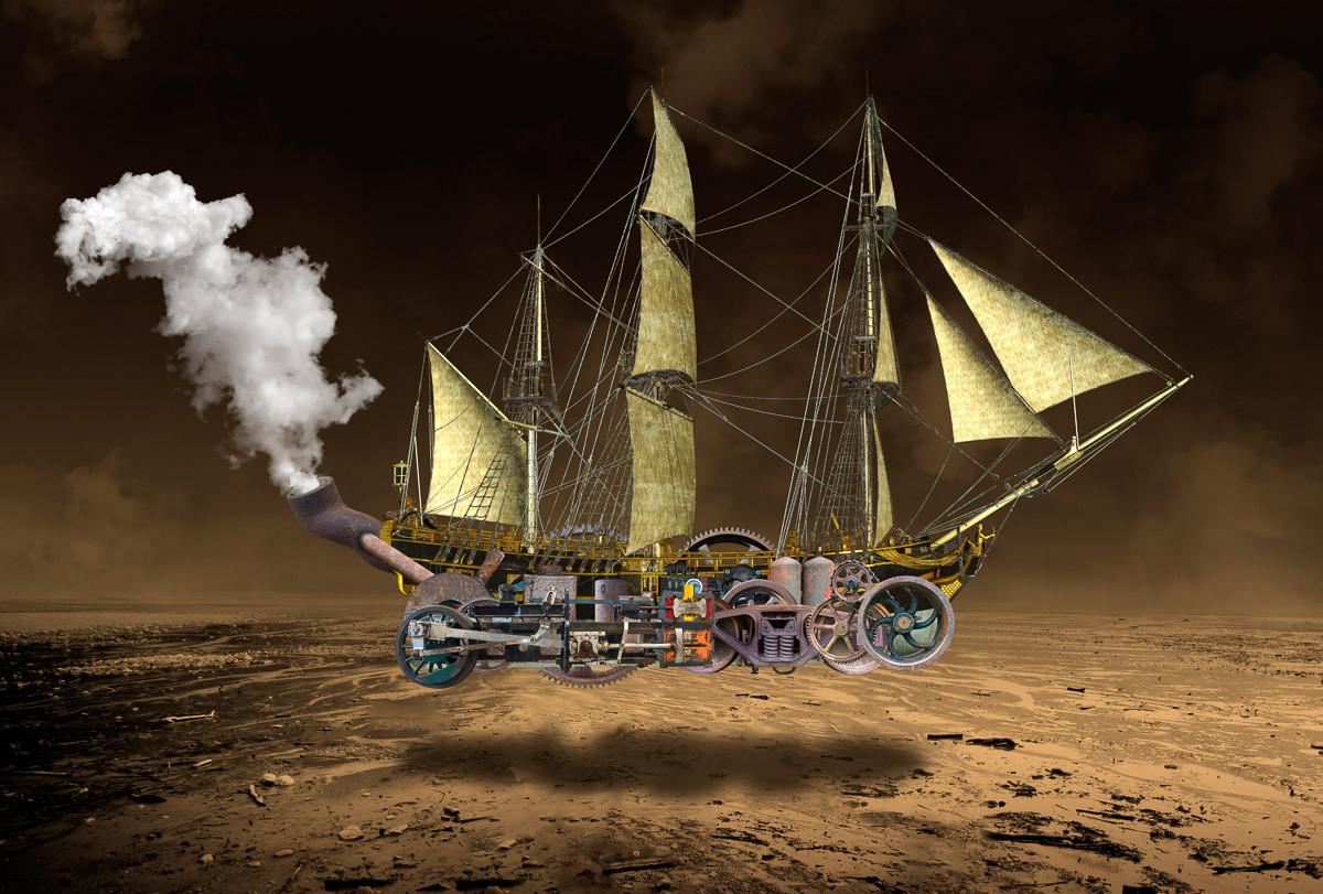 Steampunk Segelschiff