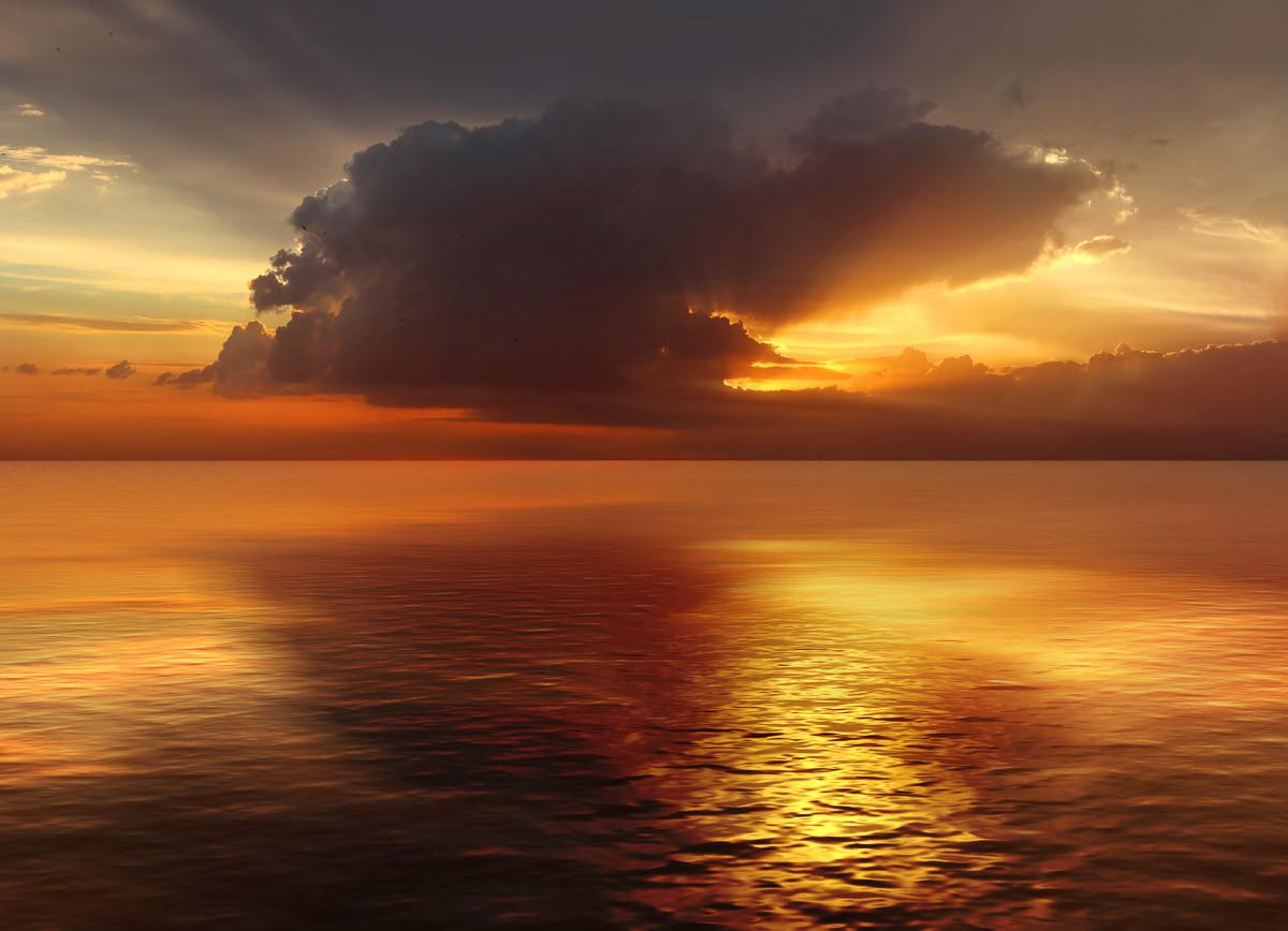Sonnenuntergang im Ozean
