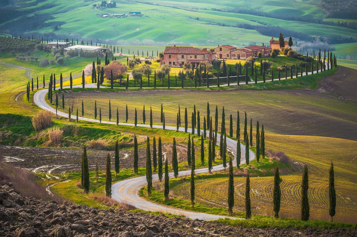 Felder in der Toskana