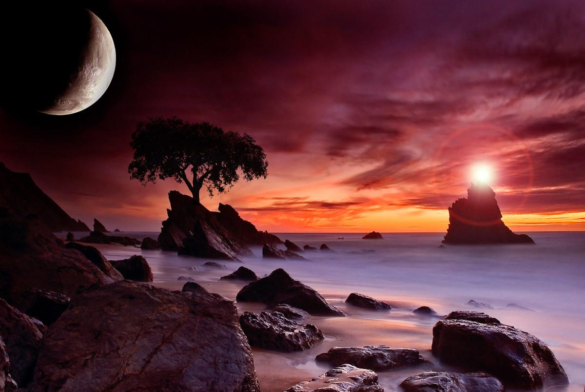 Küstenmondlicht