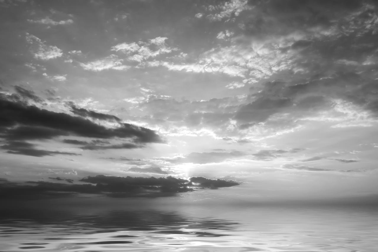 Meer Schwarz & Weiß