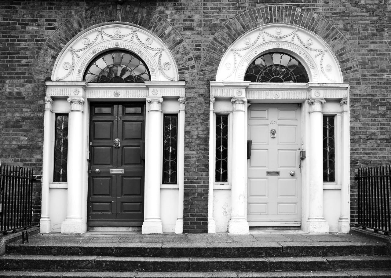 Türen Schwarz Weiß