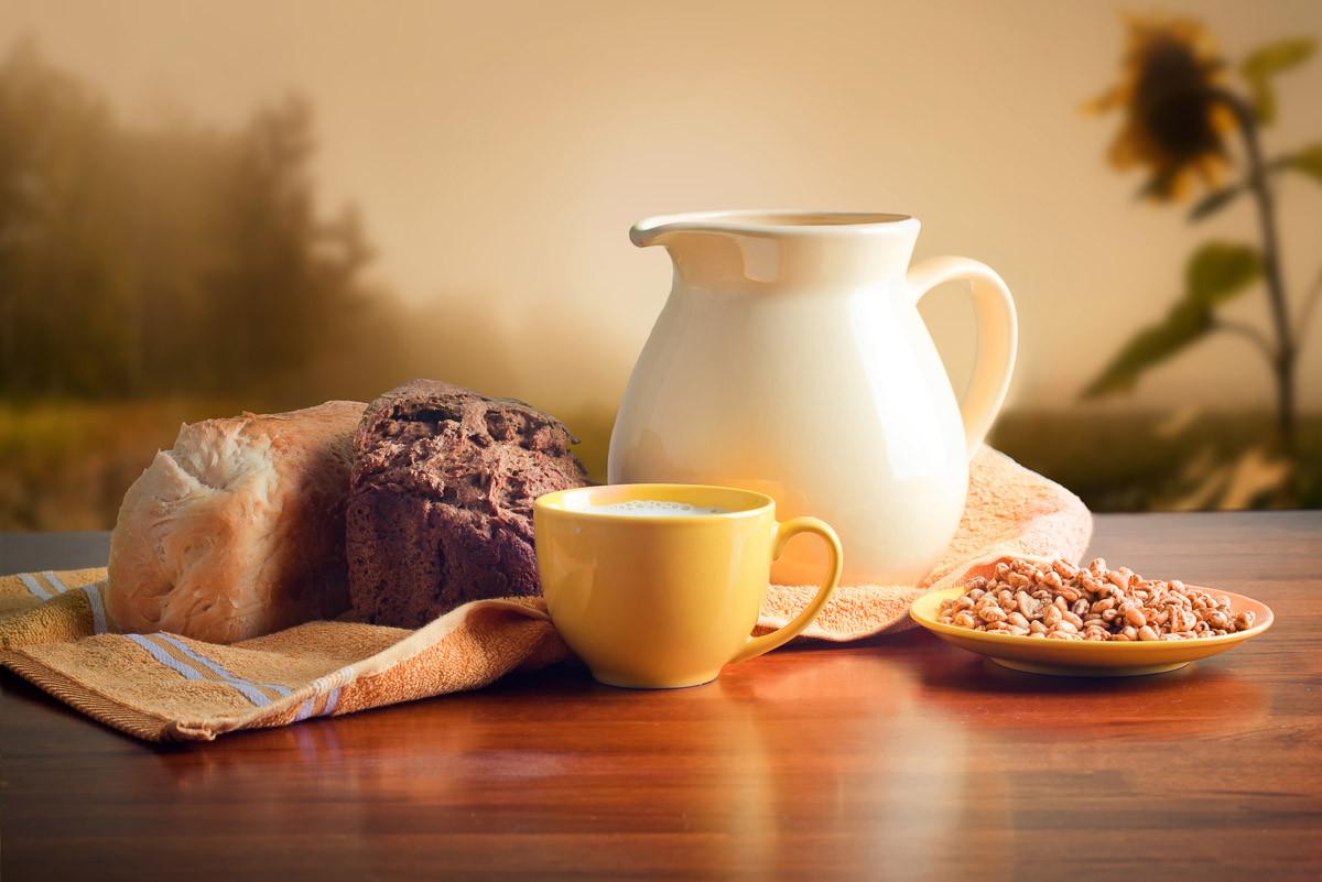 Milch und Brot