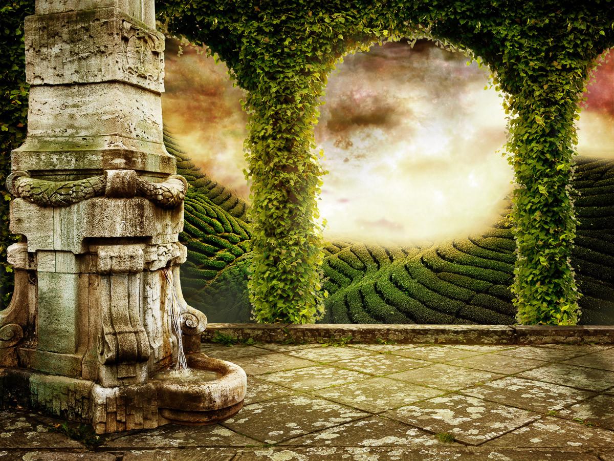 Mystische Landschaftsansicht