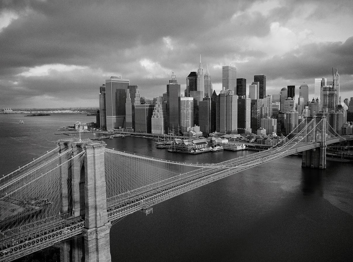 Brooklyn Bridge schwarz / weiß