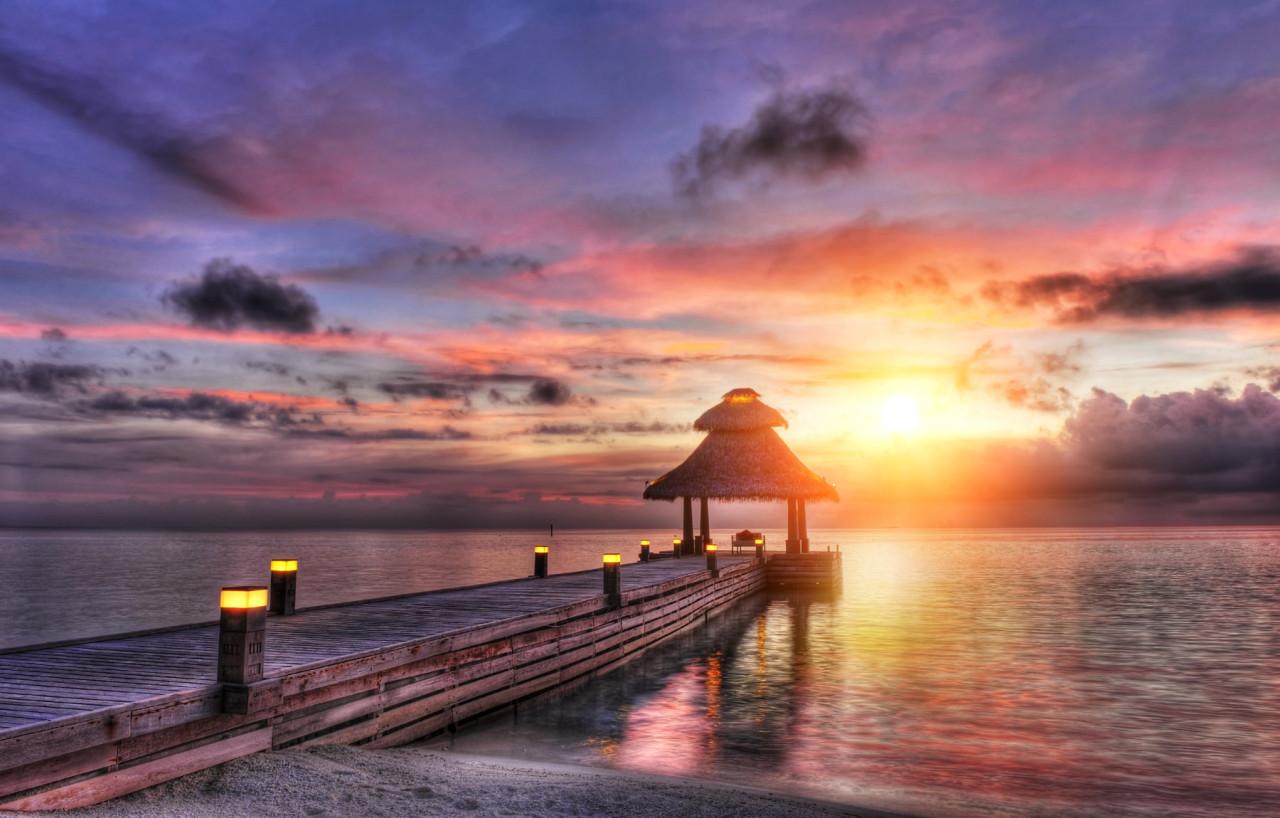 Malediven Sonnenuntergang