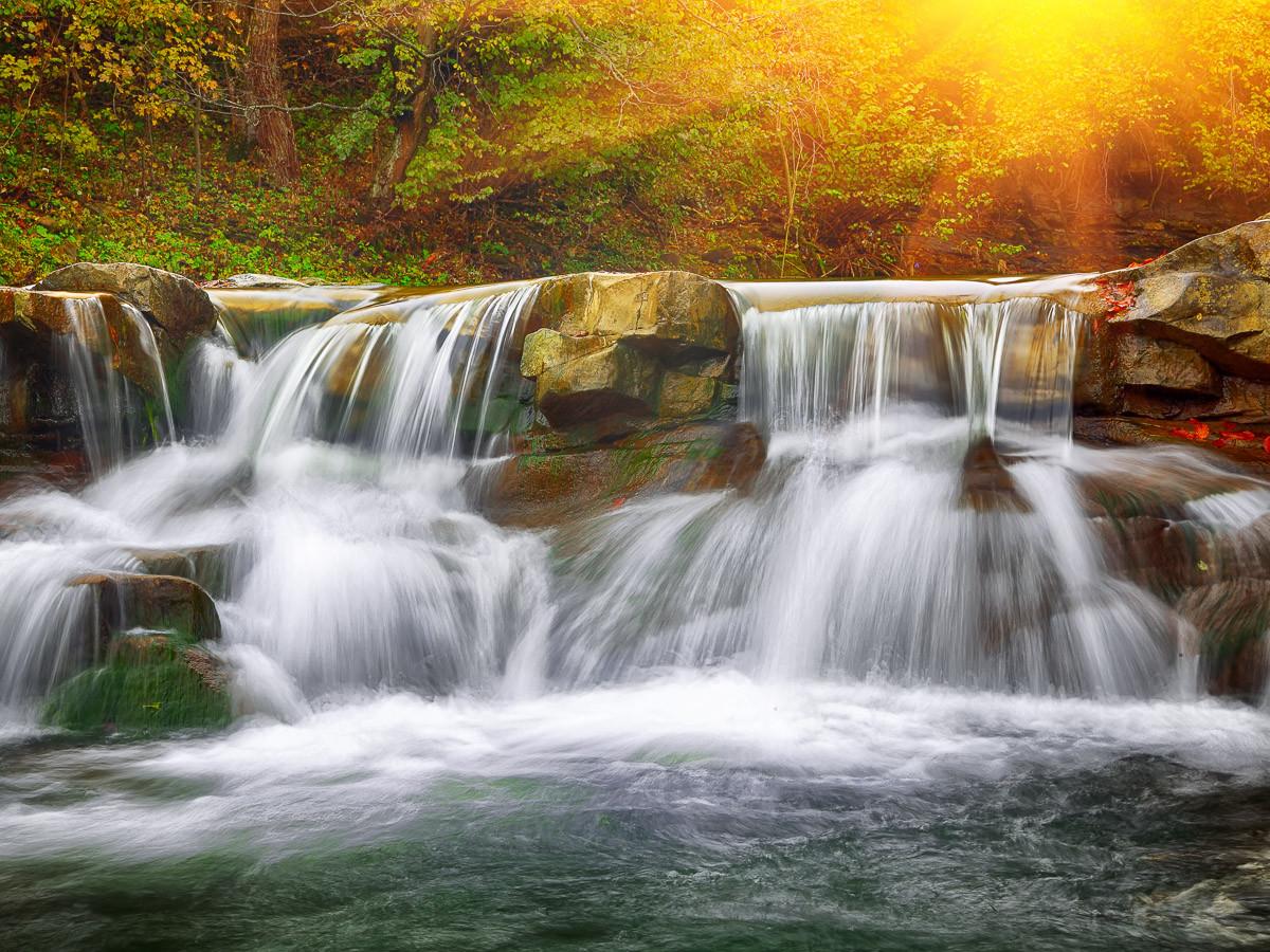 Bergwasserfall