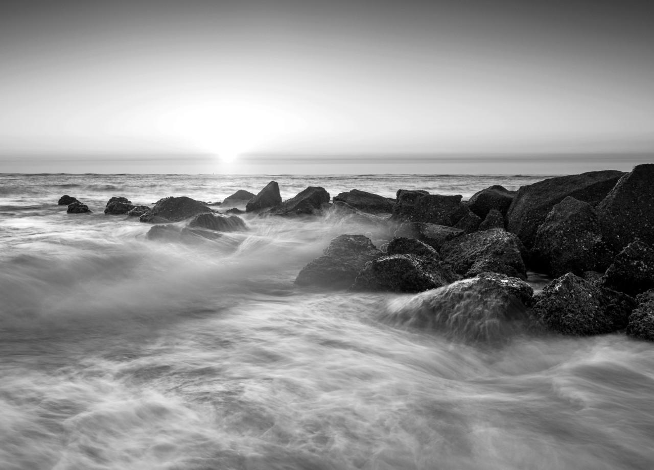 Wasser Schwarz & Weiß