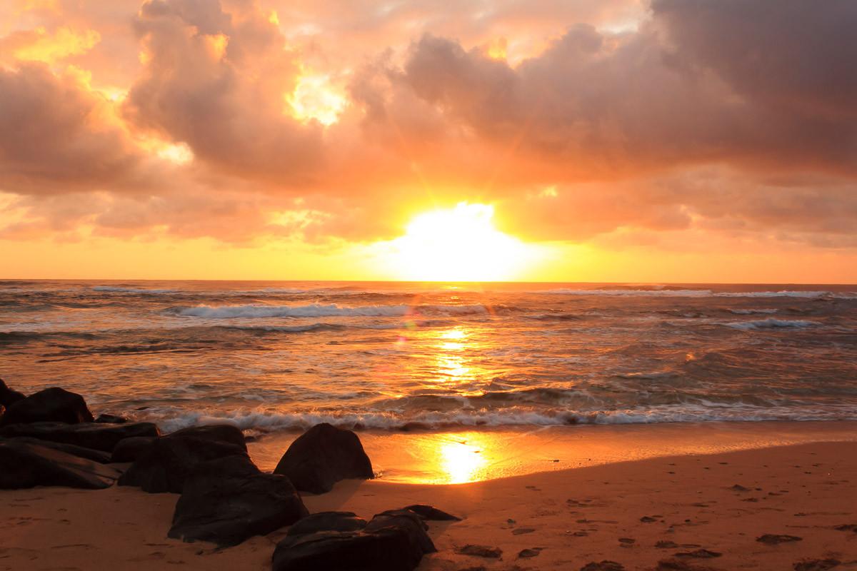 Sonnenaufgang Lihue Beach