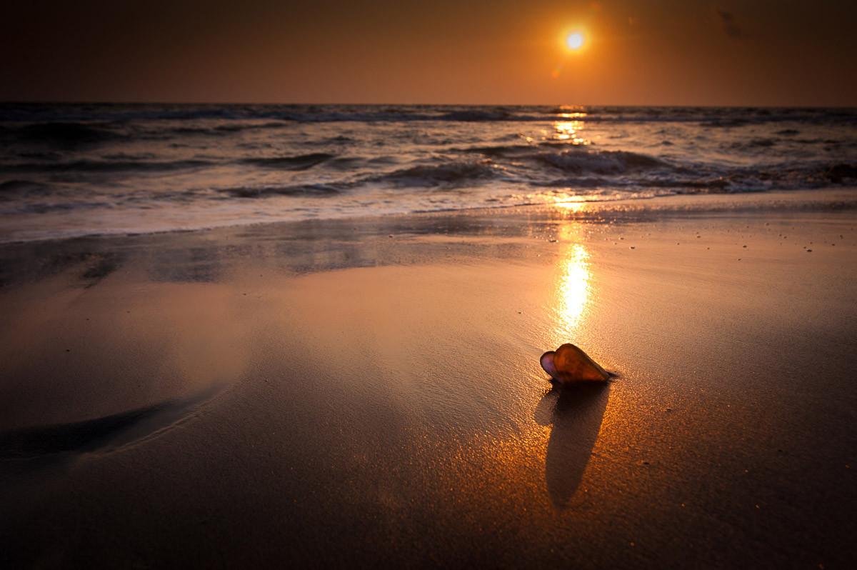Tropischer Strand Sonnenuntergang