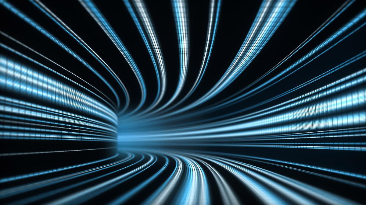 3D abstrakter Zeittunnel
