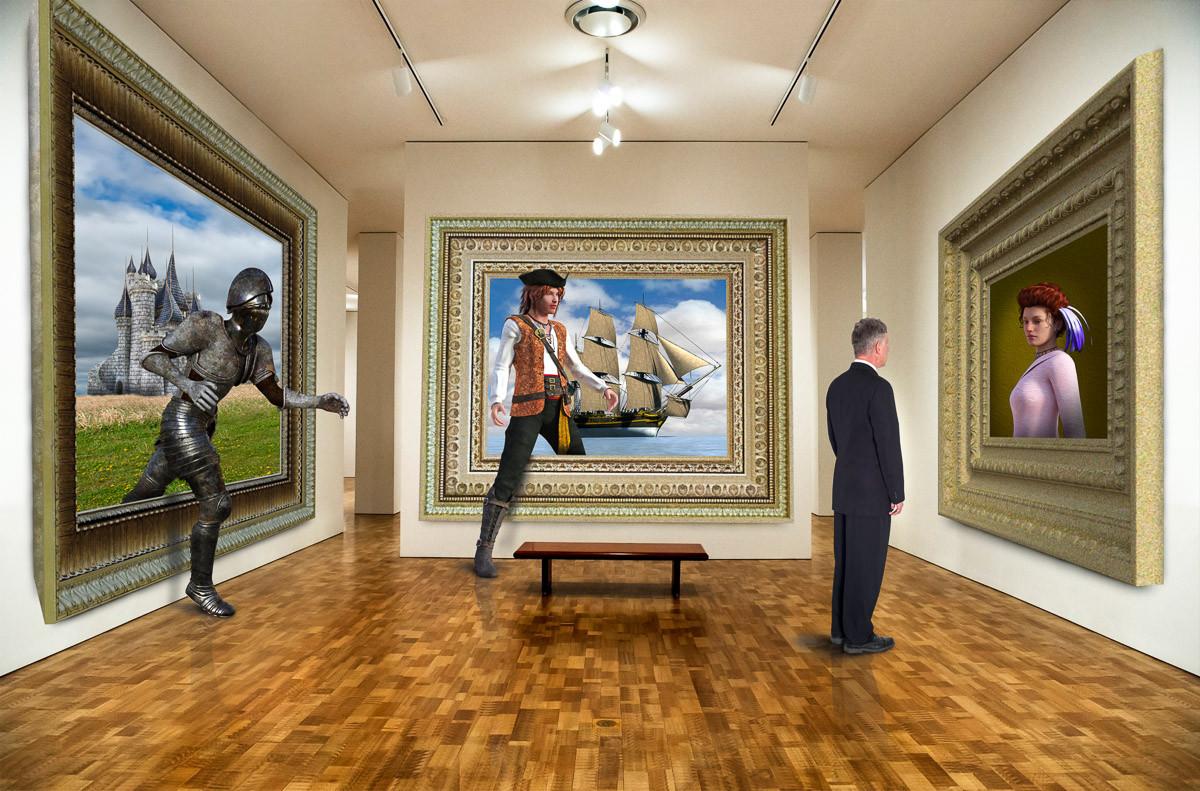 Surreale Kunstgalerie