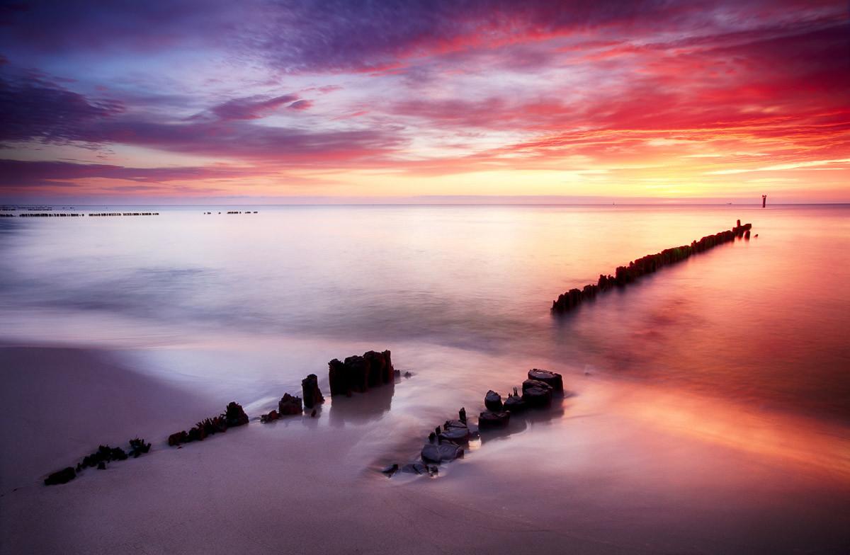 Ocean Beach bei Sonnenuntergang