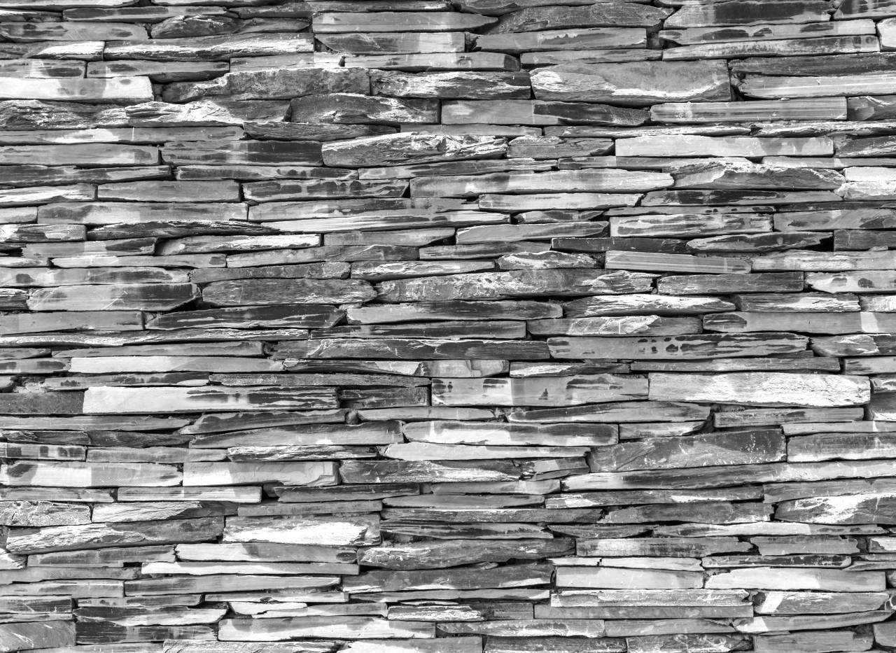 Steinwand Schwarz & Weiß