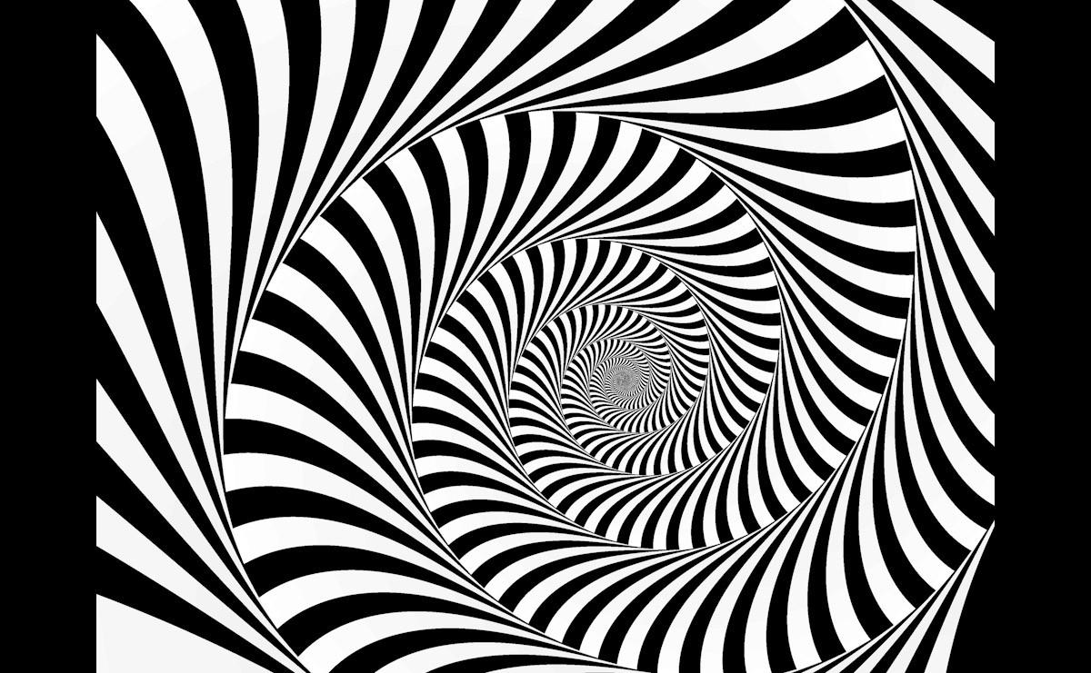 Abstrakte Spirale Schwarz & Weiß
