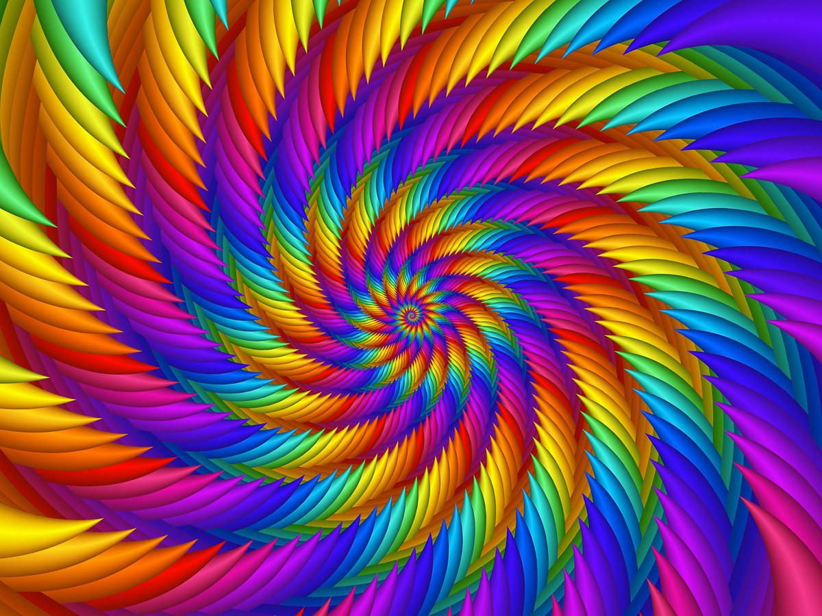 Psychedelische Regenbogenspirale