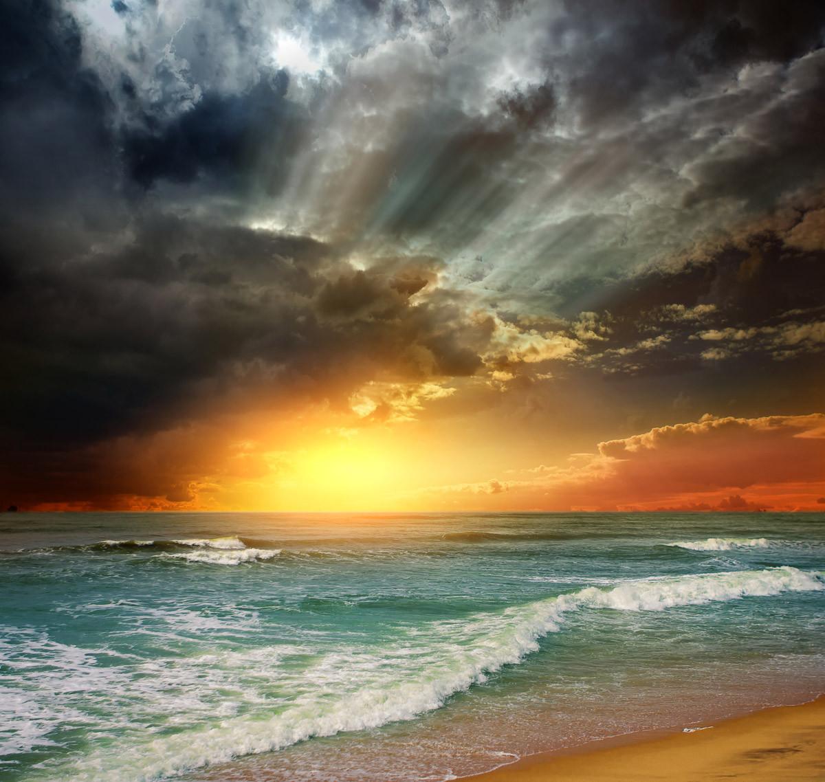 Folly Beach Sonnenuntergang