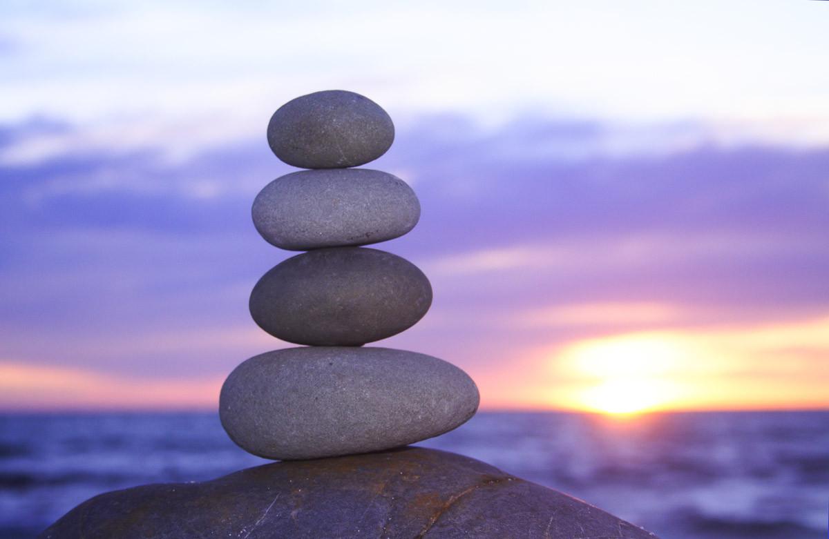 Zen Sonnenuntergang