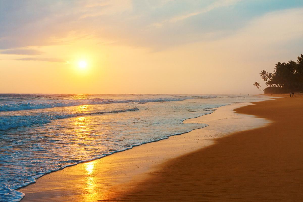 Sri Lanka Beach Sonnenuntergang