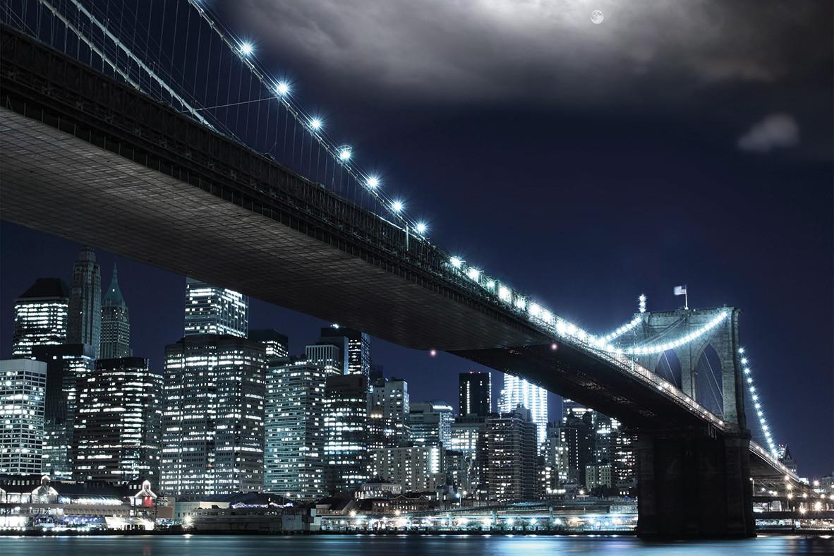 Brooklin Bridge bei Nacht