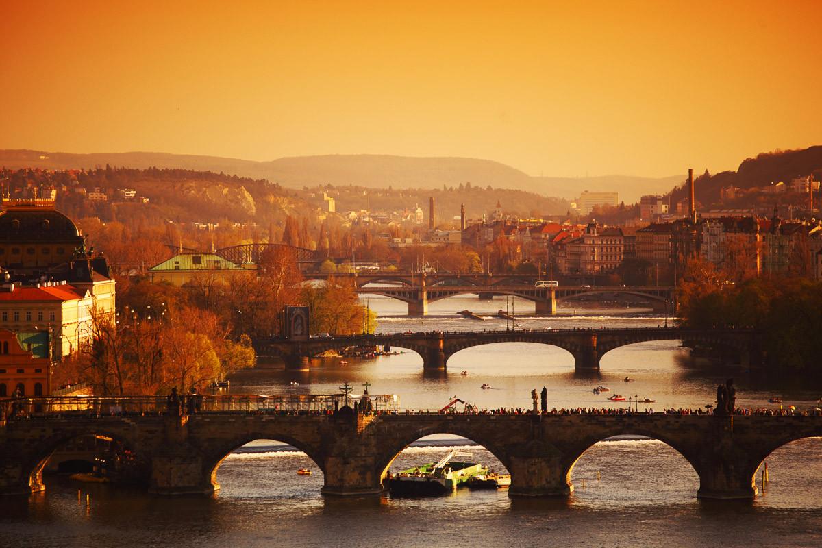 Prager Sonnenaufgang