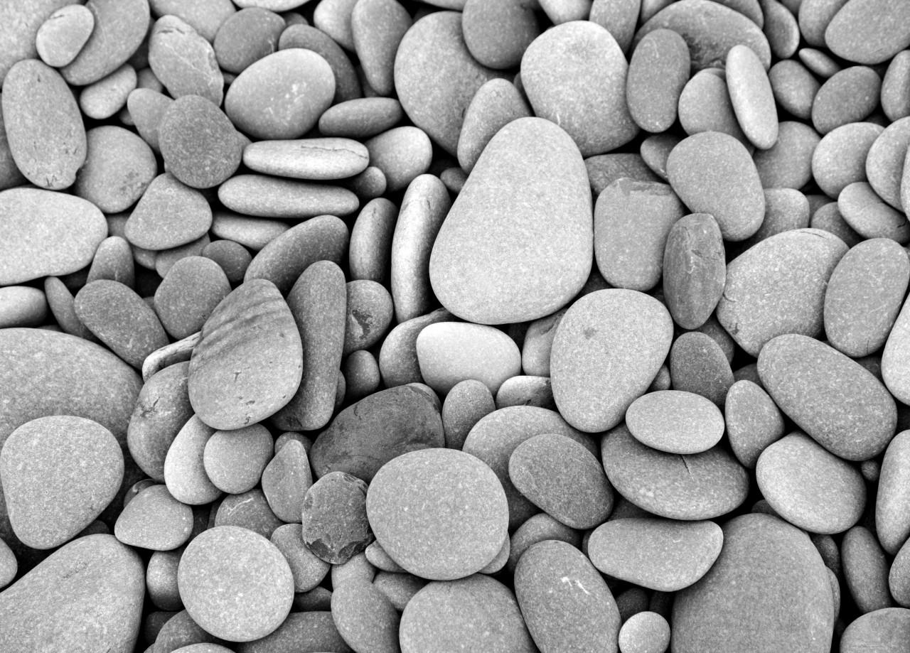 Steine Schwarz & Weiß