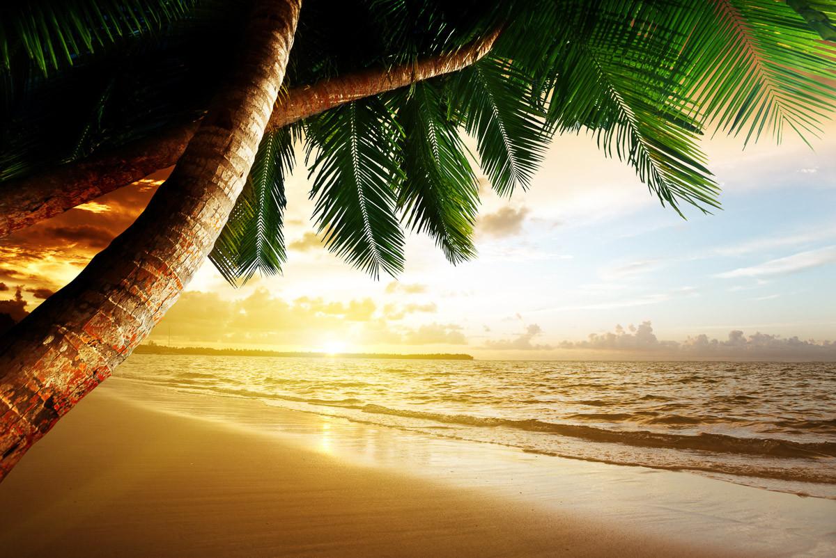 Karibischer Strand Sonnenaufgang
