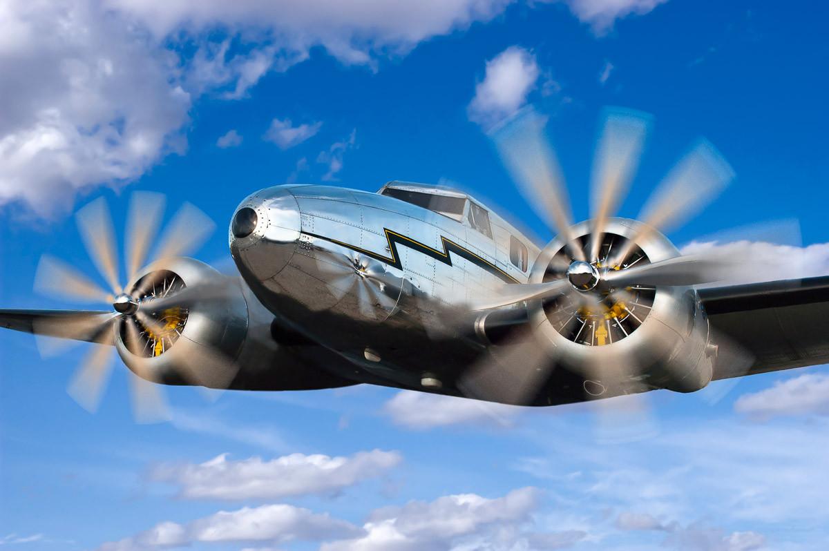 Klassisches Vintage Flugzeug