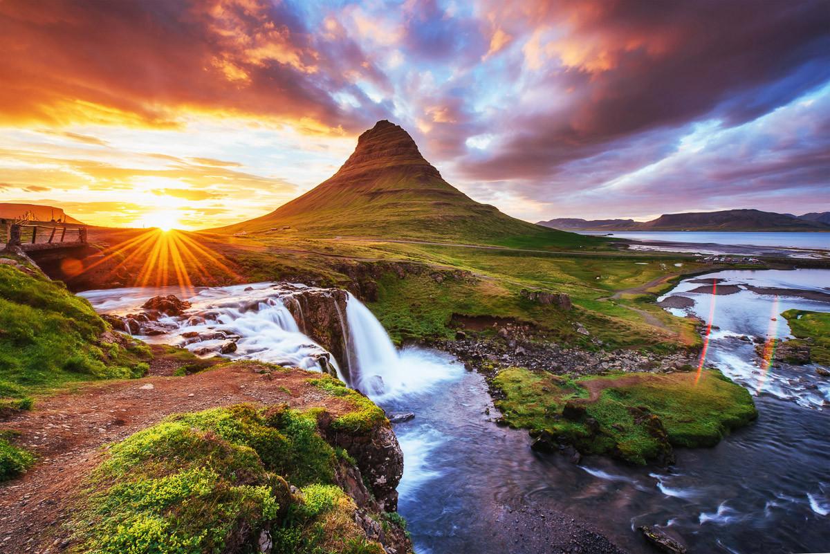 Kirkjufel Wasserfälle Island