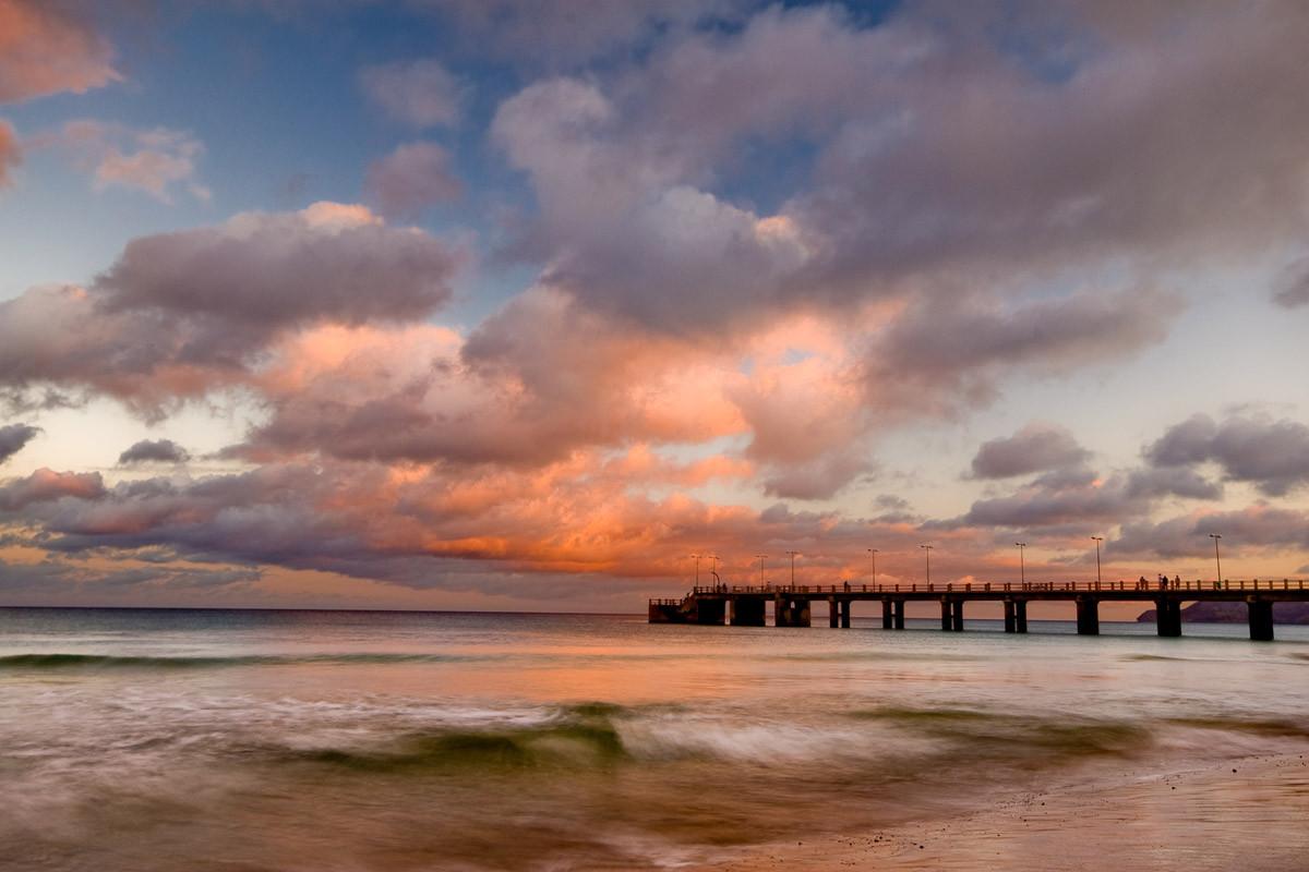 Porto Santo Pier Sonnenuntergang