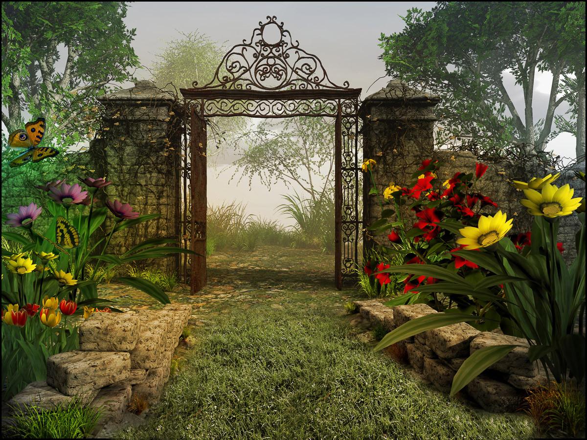 Magisches Gartentor