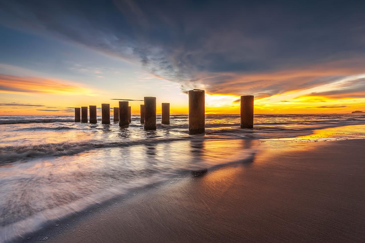 Panorama Sonnenuntergang Indonesien