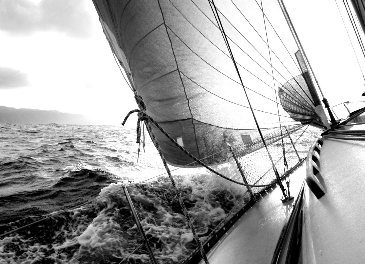 Boot schwarz & weiß