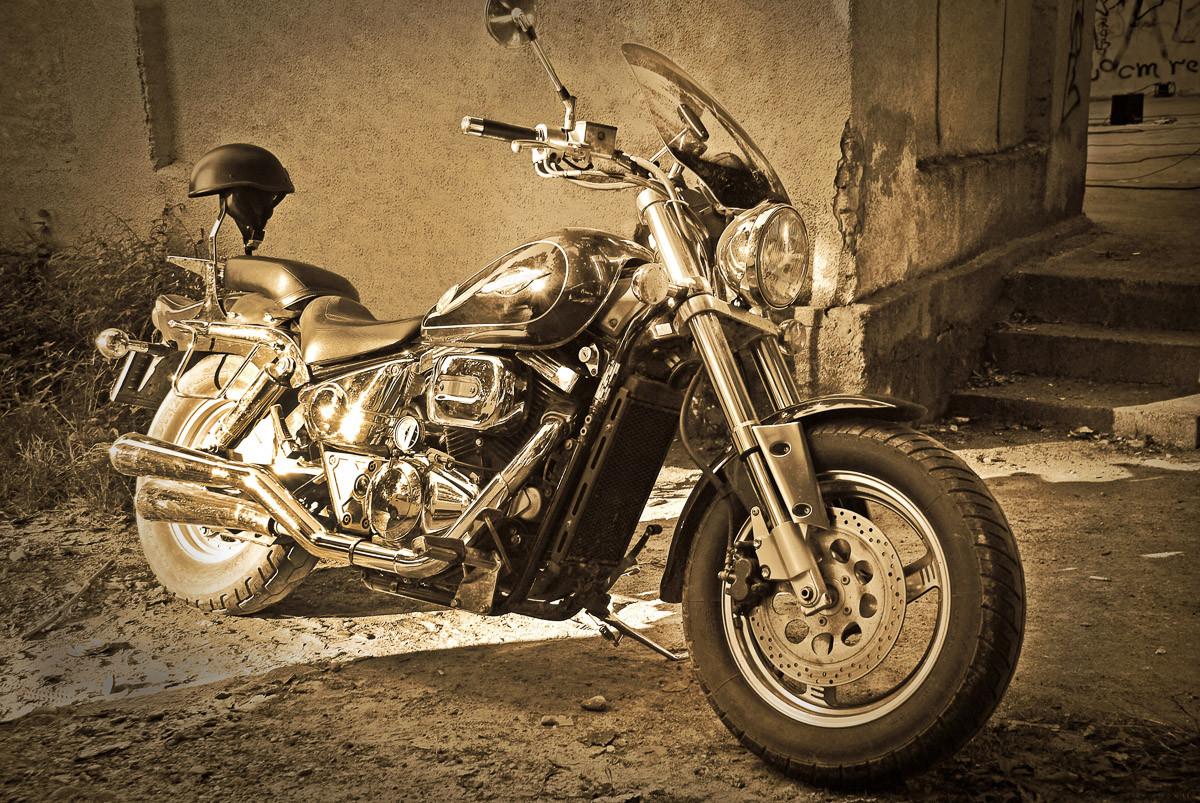 Vintage Motorrad.